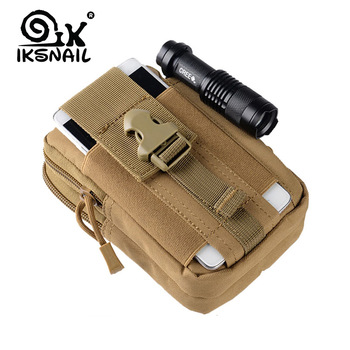 IKSNAIL Tactical Pouch Molle Hunting Bags Belt Waist Bag Military Tactical Pack Outdoor Pouches Case Pocket Camo Bag For Iphone