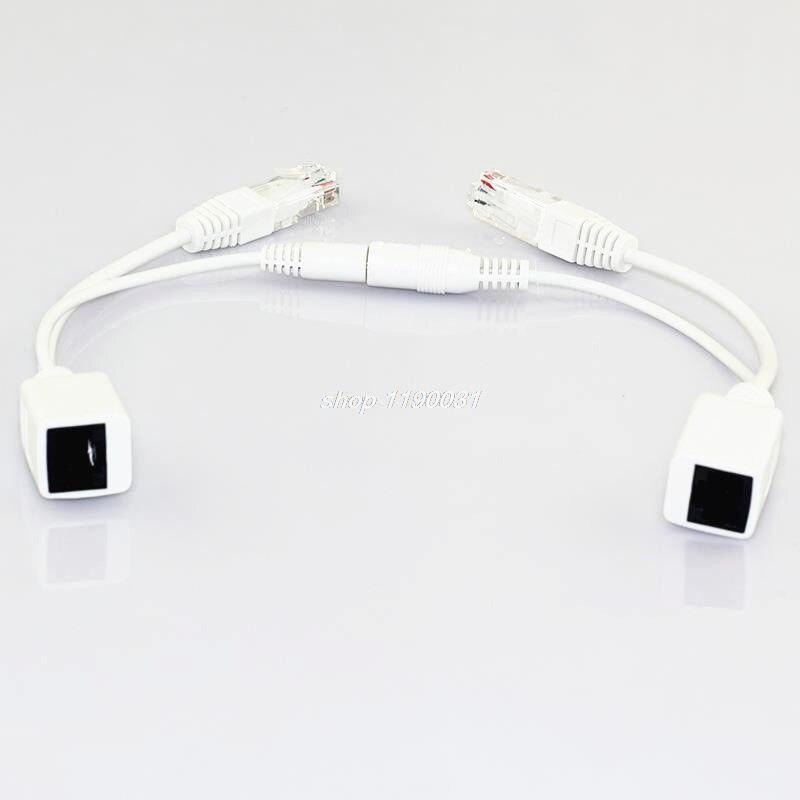 1 пара POE сплиттер 12 В адаптер Аксессуары RJ45 инжектор комплект питания Соединительный кабель камеры видеонаблюдения для камеры безопасност...