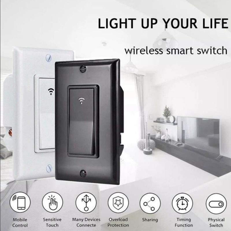 Self-powered Kinetic Wireless Switch Wall Switch Without Battery, Remote Control Lighting Up To 30 M, Without Wire, Easy To Inst