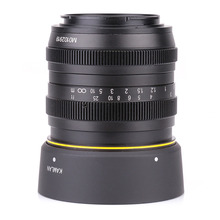 Kamlan 50mm F1.1 APS C Large Aperture Manual Focus Lens for canon eos m Free shipping