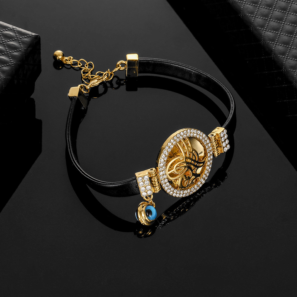 Trendy Charms Jewelry Turkish Coin Bangle Men Islam Woman New Religious Faith Leather Fashion Middle East Bracelet Arabic Muslim