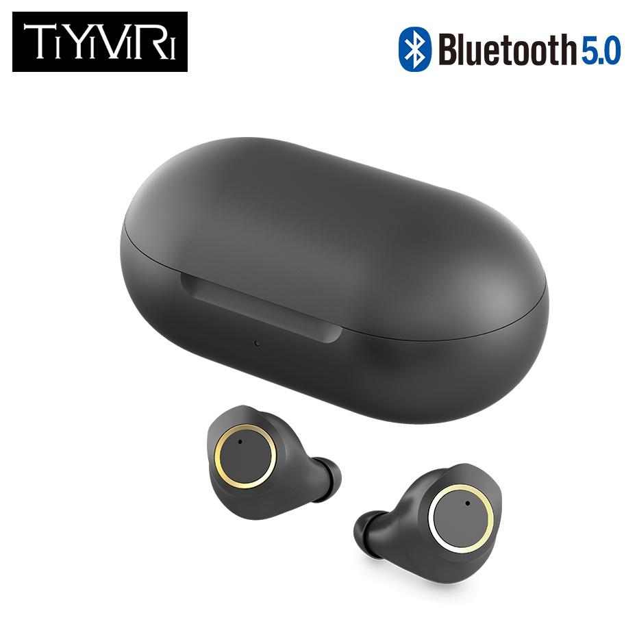 TiYiViRi TWS Bluetooth 5.0 Wireless Earbuds Touch Control Earphone True Wireless Stereo Gaming Noise Cancelling IPX5 Waterproof