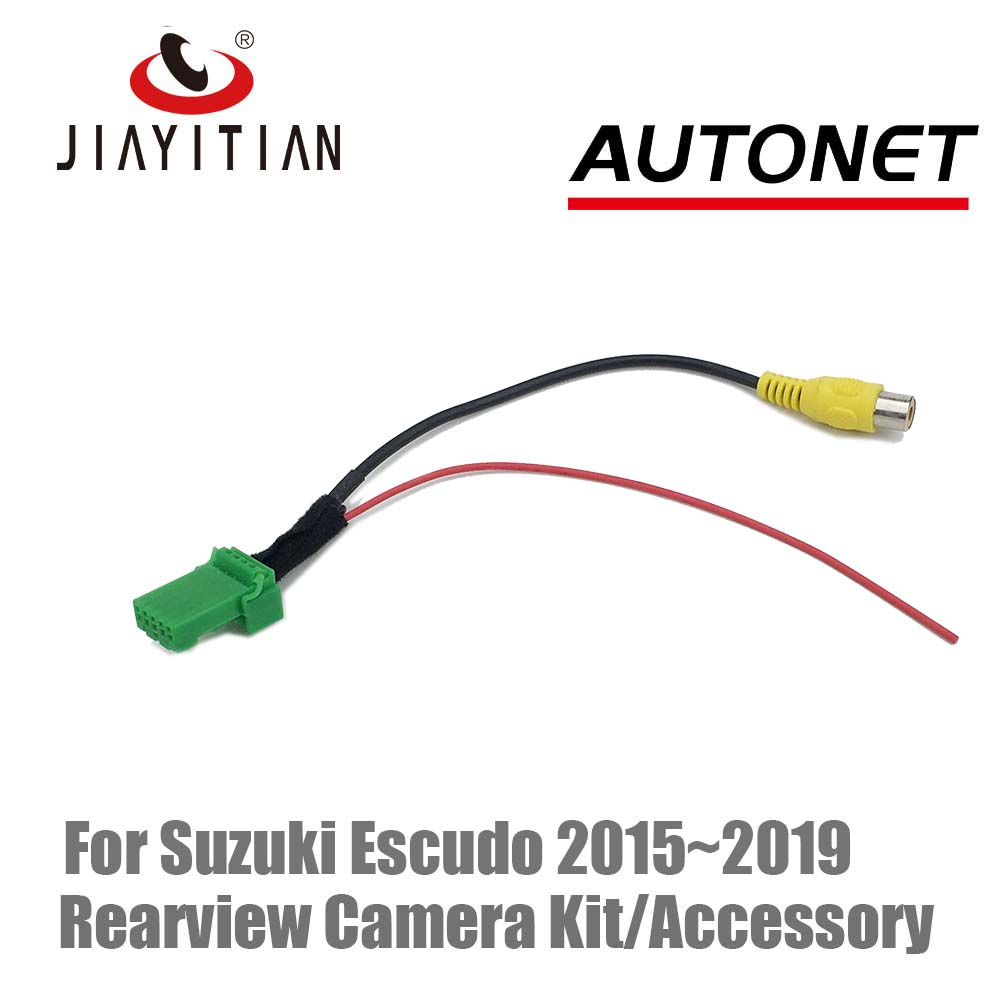 JIAYITIAN RCA Video Plug Adapter Cable For Suzuki Escudo 2015 2016 2018 2019 Backup Camera Kit With Factory Monitor Head Unit