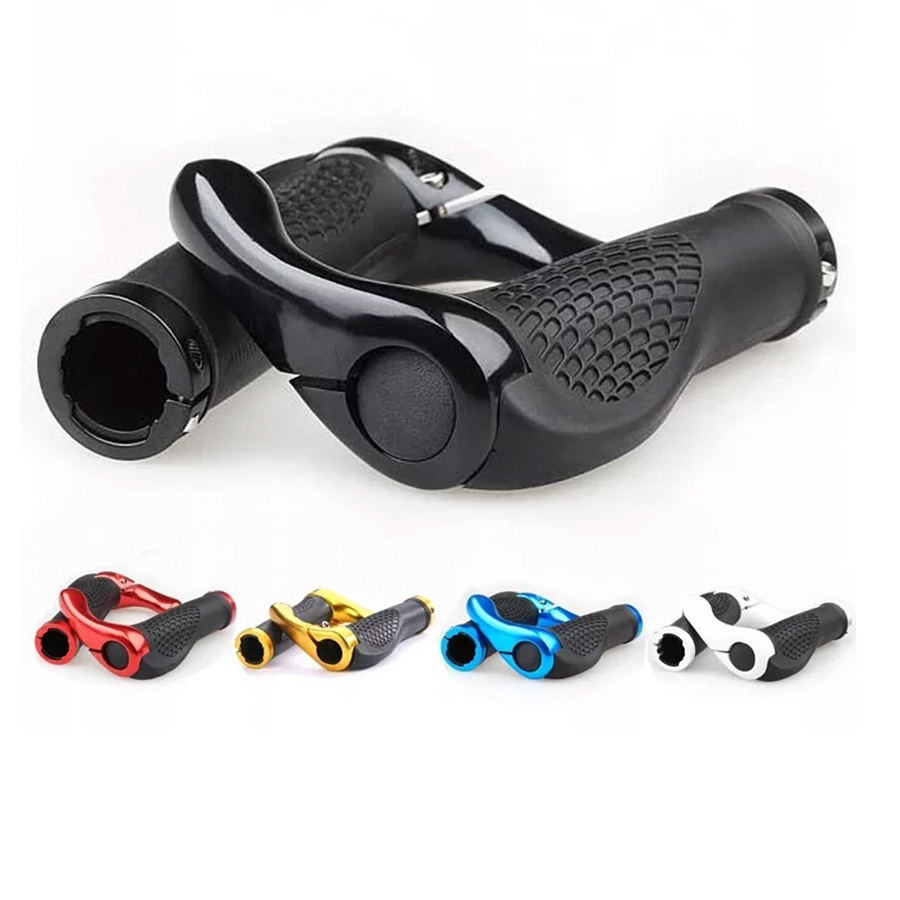 Bicycle Cycling Grips 5 Colors Mountain Bike Handle Rubber Grips Of Bilateral Lockable Anti-skid Ergonomics Handlebar