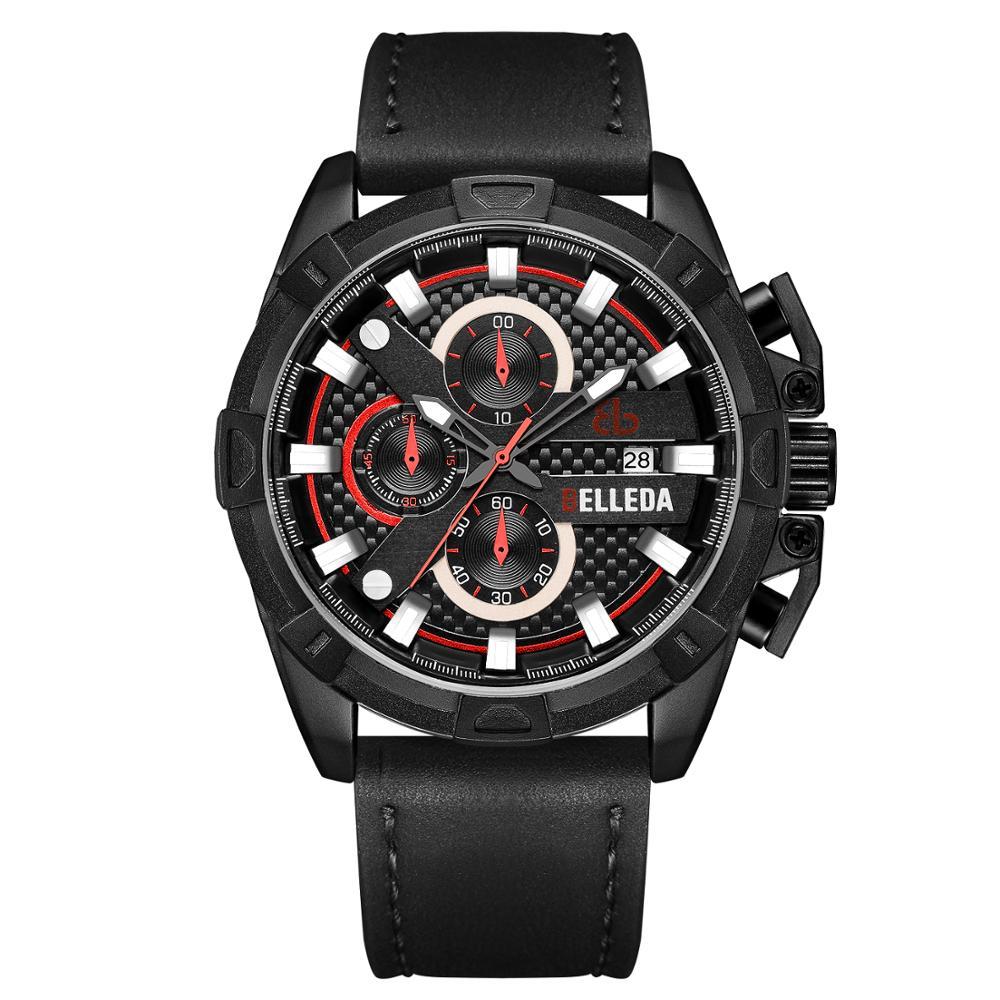 Parnis 39 мм черный циферблат кварцевые мужские часы водонепроницаемый сапфировый Кристалл хронограф светящийся мужские часы zegarek meski мужские ... - 6