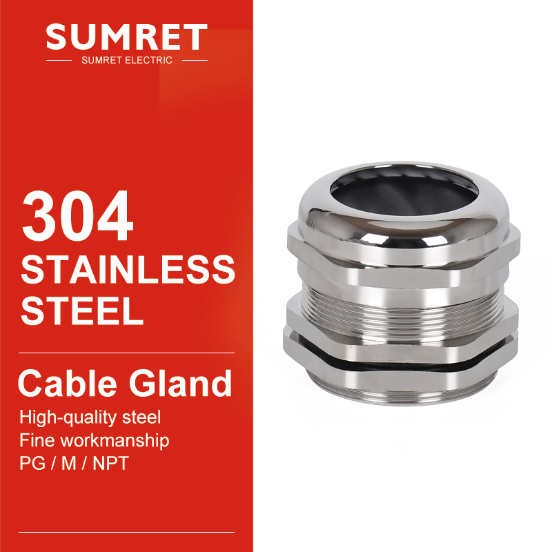 cable gland PG7 PG9 PG11 PG13.5 PG16 wire glanding 304 Stainless Steel IP68 Waterproof connector Grand Head for 3-6.5mm 4-8 5-10 image