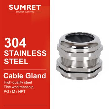 cable gland PG7 PG9 PG11 PG13.5 PG16 wire glanding 304 Stainless Steel IP68 Waterproof connector Grand Head for 3-6.5mm 4-8 5-10