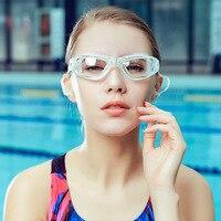 Transparent Goggles Myopia Waterproof Anti fog High definition Large Frame Swimming Glasses Adult Men's Women's Swimming Goggles Óculos de segurança     -