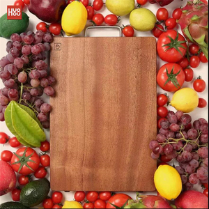 Image 2 - Original Huohou Wood Chopping Block For Meat Fruit Vegetable Bar Kitchen Tools Ebony Wood Thick Cutting Board S L