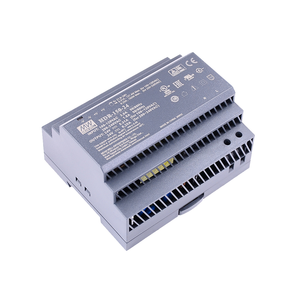 Original Mean Well HDR-15 30 60 100 150 series DC 5V 12V 15V 24V 48V meanwell Ultra Slim Step Shape DIN Rail Power Supply-5