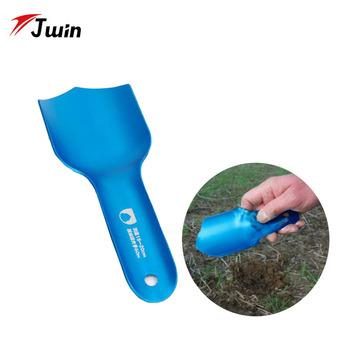 Ultralight Potty kielnia lekka aluminiowa łopata do użytku w ogrodzie i kempingu podczas wędrówek biwakowania i przetrwania na świeżym powietrzu tanie i dobre opinie Kemping Łopaty Shovel Blue