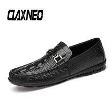 CLAXNEO Man Boat Shoes Design Men shoes luxury brand Genuine Leather Male Loafers Moccasins social Shoe Soft