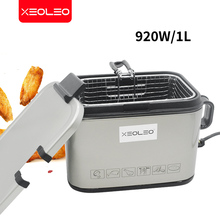XEOLEO Electric fryer Commercial Deep fryer Fried French machine Stainless steel Potato/Churros/Chicken frying machine 2L 920W