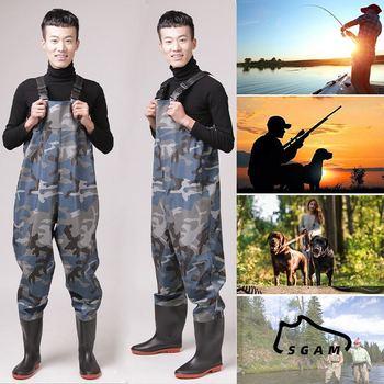 Outdoor wodery wędkarskie odzież Quick-drain oddychające wodery Stockingfoot Chest Wader wędkarstwo polowanie spodnie Marsh spodnie do wędrówek pieszych tanie i dobre opinie Upstream SKUF07542