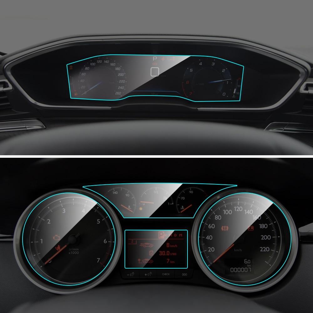 For Peugeot 508 Car Instrument Panel Screen Protector Auto Interior TPU Film Dashboard Membrane Protective Film Car Accessories