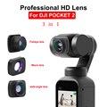 Для DJI POCKET 2 Портативный Большой широкоугольный объектив профессиональный HD Магнитный Карманный карданный Объектив Аксессуары для камеры