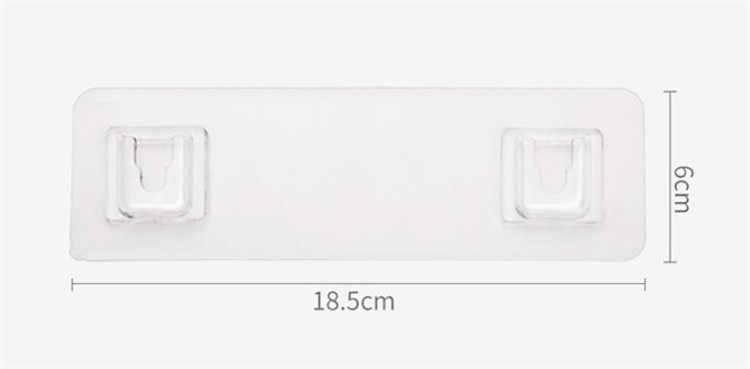 4pcs Clear Adhesive Hooks Sticker Wall Door Windows Hooks Hanger Home decor.