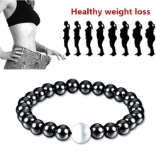 Beads Bracelets Weight-Loss Gifts Natural-Stones Bangles Women Jewelry Black Fashion