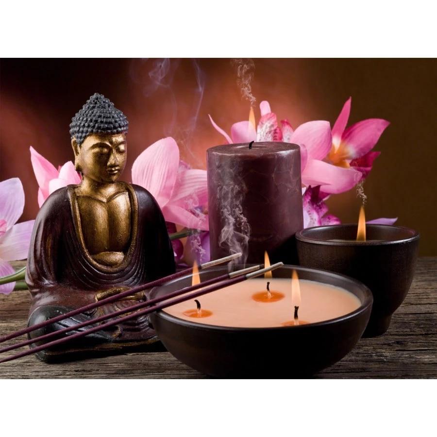 Pdmdog 5d diy алмазная живопись Орхидея Будда 3d вышивка крестиком