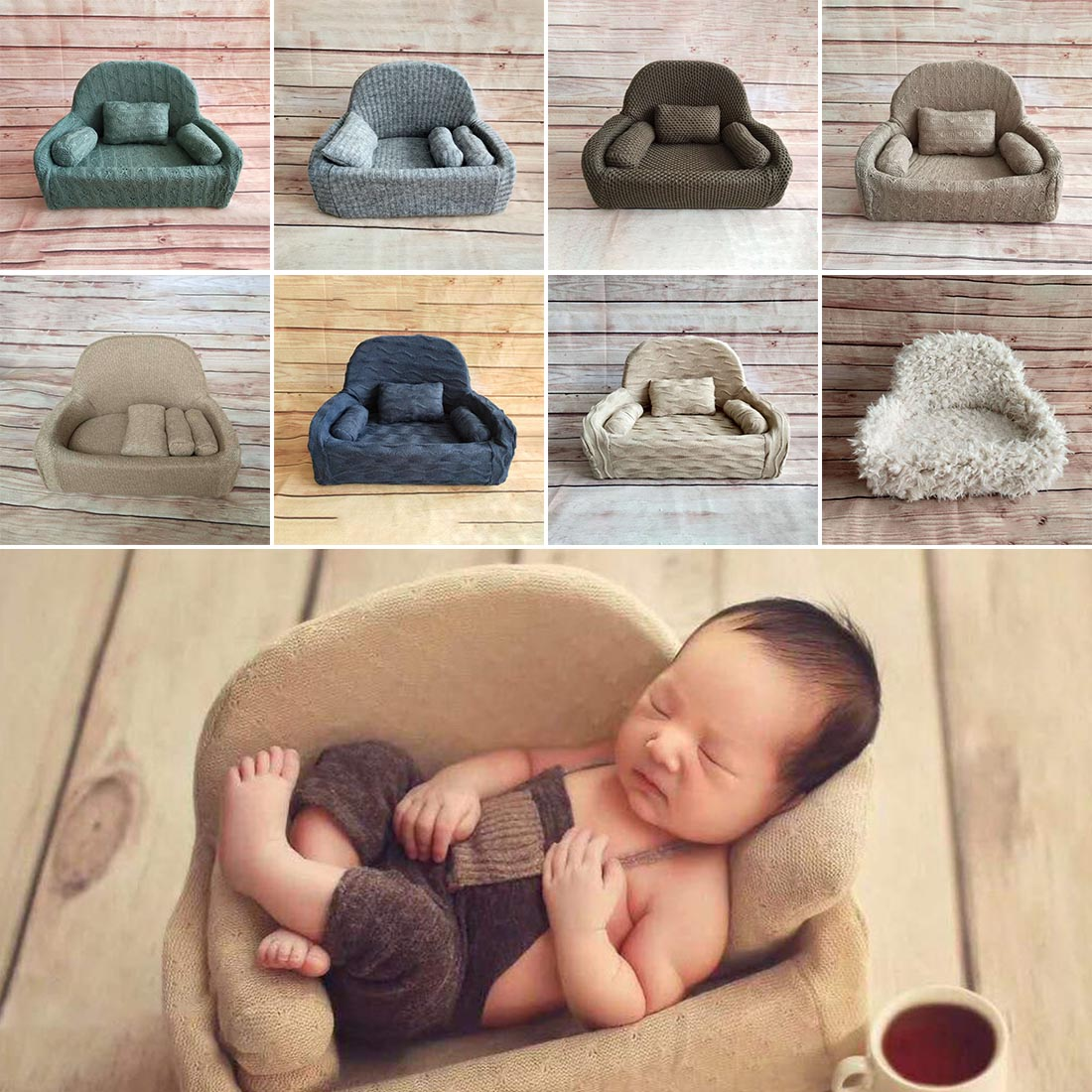 Newborn Baby Photography Props Posing Mini Sofa Chair Decoration Accessories Baby Photography  Studio Shooting Props