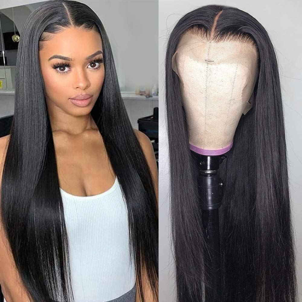 Natural T lace wig