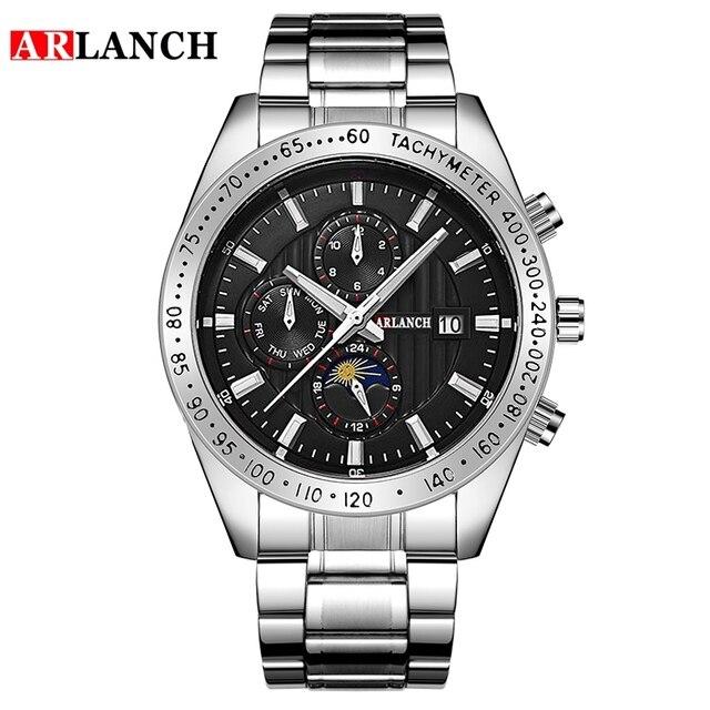 часы наручные arlanch мужские кварцевые модные брендовые спортивные фотография