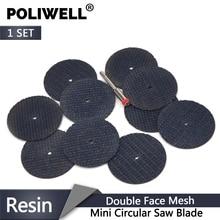 POLIWELL 10 Đôi Sợi Web Nhựa Đĩa Cắt + Đường Kính 3mm Cần Cắt Bánh Xe Kim Loại dremel Quay Mỏng Dụng Cụ Cắt