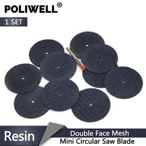 Image 1 - POLIWELL disques de découpe en résine à Double Fiber, + roues de découpe de tige de 3mm de diamètre pour outils de coupe minces rotatifs en métal Dremel, 10 pièces