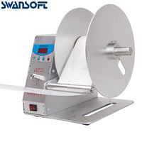 Swansoft Automatic Label Rewinder Clothing tags barcode Stickers rewinding machine
