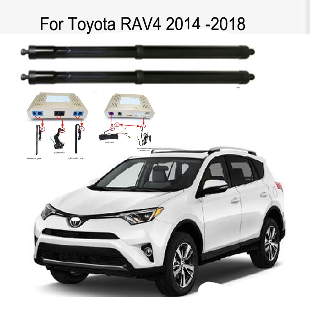 New Electric Tailgate Refitted For Toyota RAV4 2014 -2020 Tail Box Intelligent Electric Tail Door Power Tailgate Lift Lock