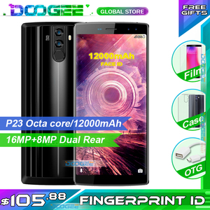 Image 1 - Fast shipping on DOOGEE BL12000 12000mAh battery 4GB 32GB Smartphone phone 6.0 inch18:9 FHD+16MP 4 Camera Android 7.0