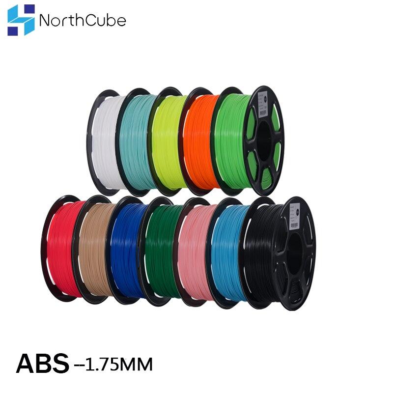 Filamento plástico da impressão 3d dos materiais de impressão do filamento 1.75mm 1kg da impressora do filamento 3d do abs de northcube