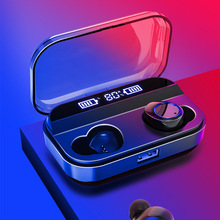 цена на Waterproof Bluetooth 5.0 In-ear Earphone Stereo Wireless Headset with Charging Pod for Sport LHB99