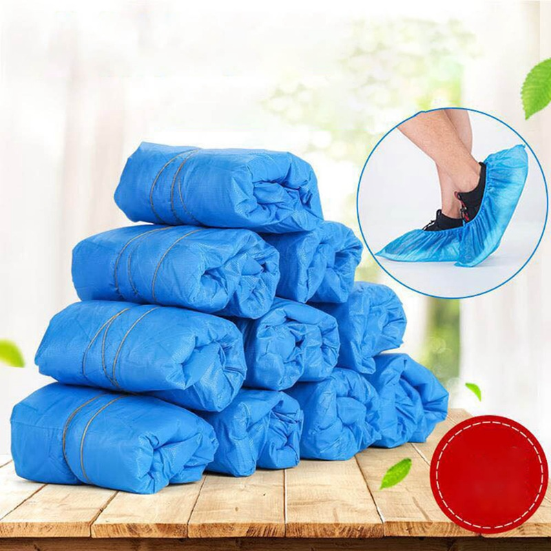 100PCS Disposable Plastic Shoes Covers Rainy Day Waterproof Dustproof Protective Shoe Cover Comfortable Overshoes Clean Shield