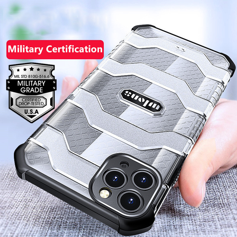 Military Rugged Armor Heavy Duty 360° Camera Protection Case for iPhone 12 Pro Max