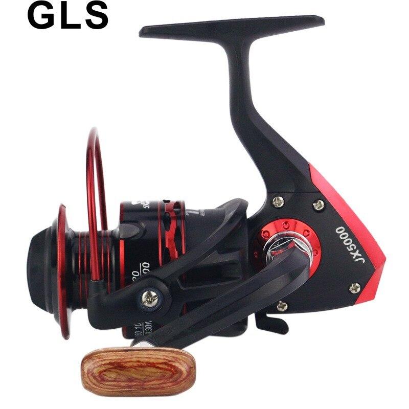 2020 GLS marka siyah kırmızı JX serisi tel fincan metal rocker kolu olabilir değiştirilebilir sol ve sağ iplik tekerlek balıkçılık reel