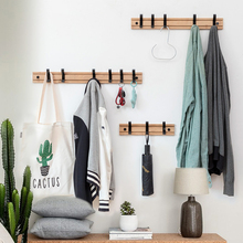 3/5 Hooks Wall Mounted Rack Home Decor Wooden Hook Coat Rack Hat Clothing Towel Hanger Kitchen Wall Brack Hanging Folding Racks [ fly eagle ] creative white wooden wall hanger racks with 4 hooks love hook hanging hanger for keys jewelry towelfree shipping