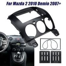 2 Din auto Radio estéreo Fascia Kit de marco para montaje Panel reposición Marco de Panel para Mazda 2 2010 Demio 2007 +