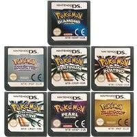 DS cartouche de jeu Console carte Pokeon série diamant coeur or perle platine SoulSilver Version ue pour Nintendo DS 3DS 2DS