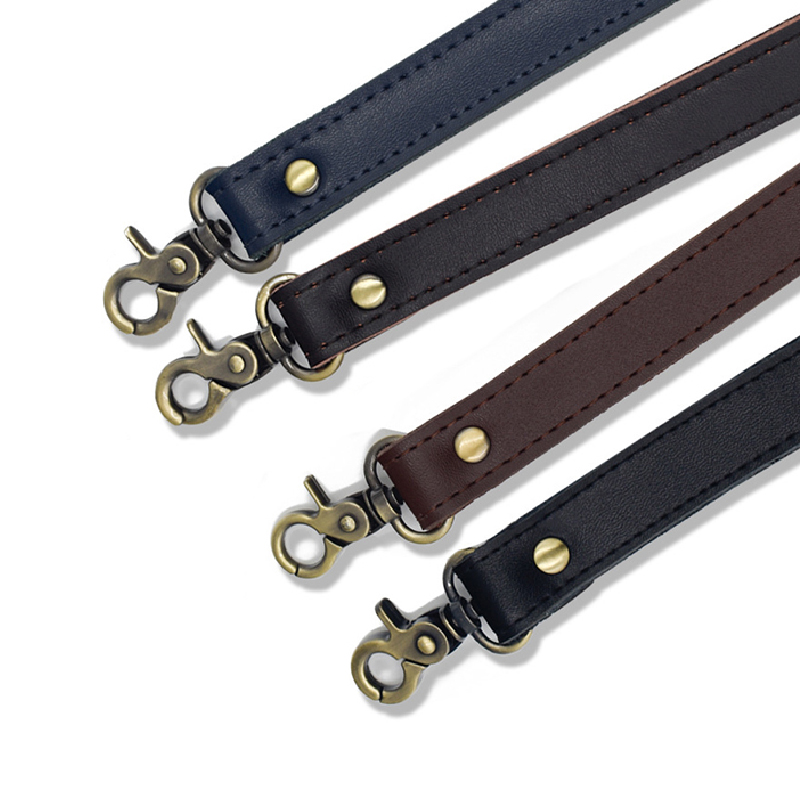 2019 58cm Bag Belt Leather Obag Handles With Golden Clasp Black Bag Strap Accessories For Bags Women Purse Strap Shoulder Strap