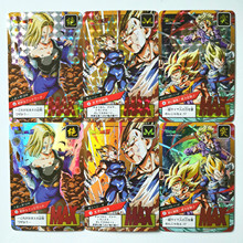 6pcs/set Duivel Vegeta Super Dragon Ball Z Heroes Battle Card Game Collection Anime Kaarten