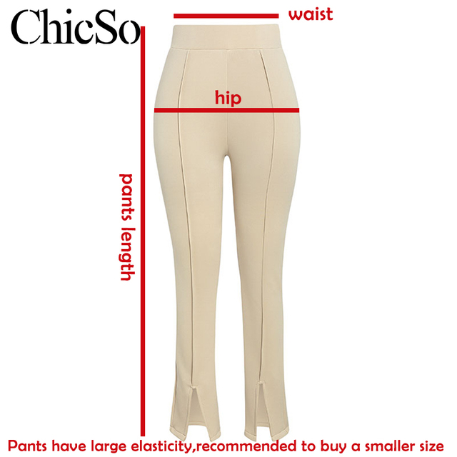 MissyChilli Split Women elegant black white trousers