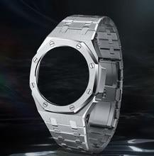 Hontao casioak 3th geração ga2100 pulseira de relógio de metal ga2110 pulseira moldura para casio g-shock GA-2100 acessórios de substituição