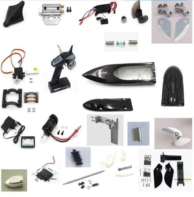 Feilun FT011 RC barco metal actualizaciones partes metal cola timón hélice piezas refrigeradas por agua motor ESC cuerpo shell etc ¡!