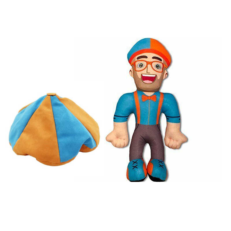 Blippi Plush Doll Macio Stuffed Toy Para O Presente Do Bebê Cosplay Prop 33cm