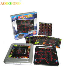 Subway Maze 64 Off Mission Clearance Game Logic Reasoning Intelligence Toy Board Kids Children Family Playing Party Game Gift(China)