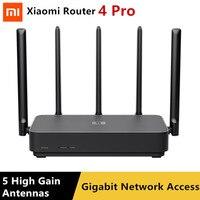 Xiaomi Router 4 Pro Gigabit 2.4G/5.0GHz Dual-Band 1317Mbps Ripetitore WiFi 128MB 5 antenne Ad alto guadagno Più Ampia IPv6 Router Wireless