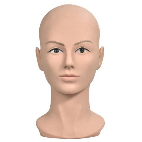 Cabeça da Boneca para Peruca Famale Formação Cabeça Careca Manequim Peruca Que Faz Exibição Óculos Chapéu Perucas