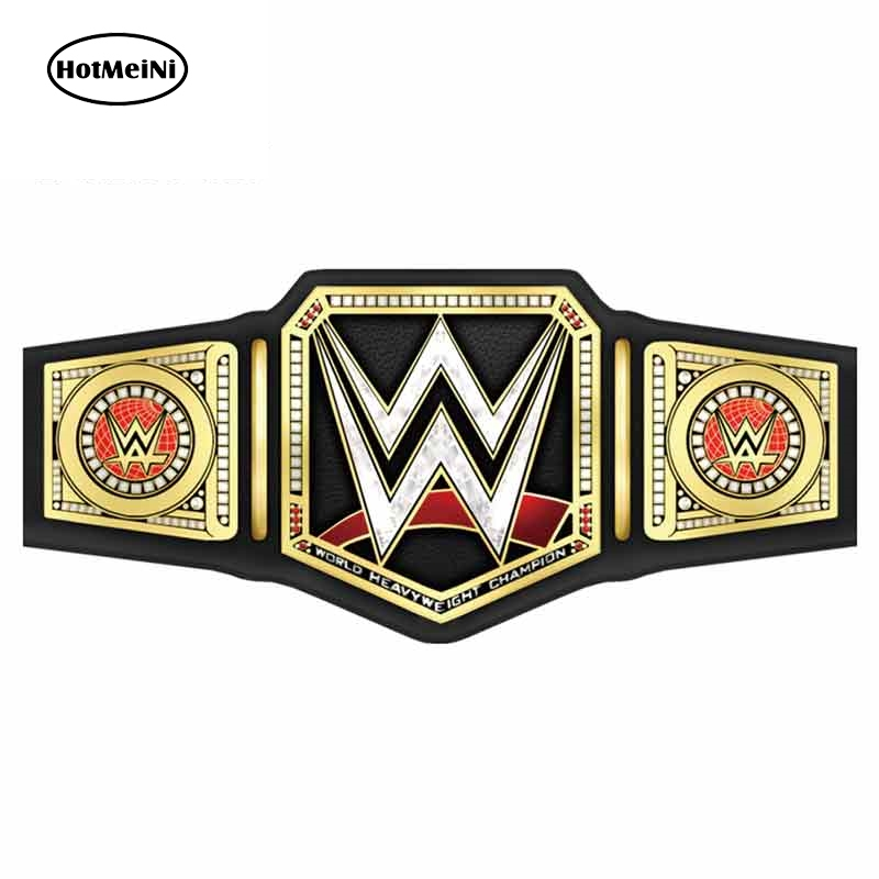 HotMeiNi 13cm X 6cm For Wwe Fine Car Stickers Waterproof Decal Vinyl Material Personality Creative Scratch-Proof Decoration