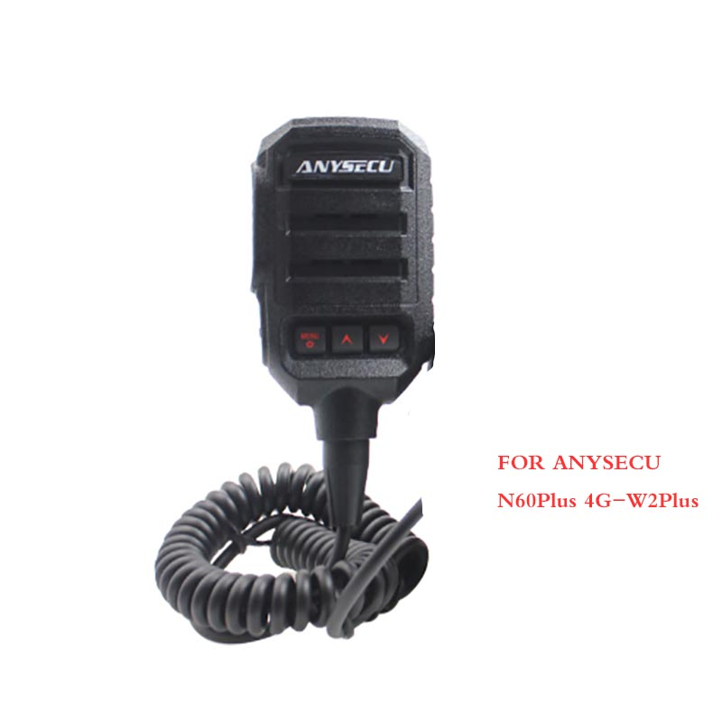 ANYSECU Original PTT Microphone For 4G Android LTE Network Radio N60Plus 4G-W2Plus Walkie Talkie Work With Zello PTT